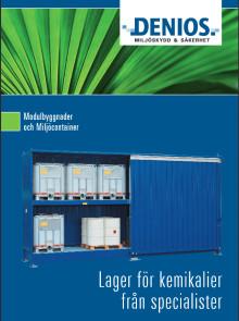 Allt du behöver veta om Miljöcontainer och lager för kemikalier – samlat i en broschyr!