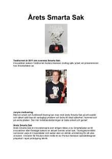 Testhornet är Årets Smarta Sak 2011!