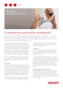 Indspark - Er enestuer kun godt nyt for hospitaler?