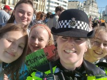 Police praise for global climate strike protesters