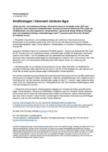 Värdebarometern 2015 Hammarös kommun