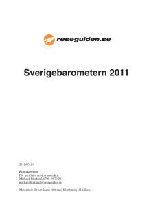 Reseguidens Sverigebarometer 2011 - hela sommarstadslistan