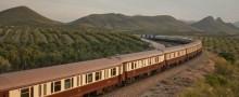Stig på ett turisttåg i Spanien