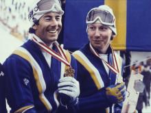 Stenmark, Pärson & Wilander i skidtävling mitt i sommaren