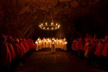 Luciasatsning under jord i Falu Gruva