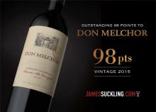 Don Melchor 2015 hyllas av James Suckling
