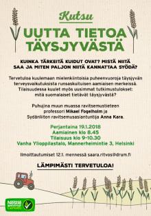 Muistutuskutsu 19.1.2018 – Uutta tietoa täysjyvästä