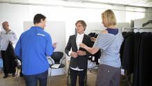 Kandidater testar klädkollektionen inför Sochi 2014