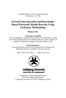 Towards Interoperable and Knowledge-Based Electronic Health Records Using Archetype Methodology