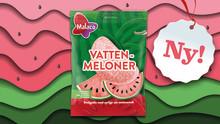 Malaco Vattenmeloner – syrligt söta favoriter i en egen påse!