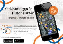 Livevisning av jubileumsappen Karlshamn 350 år - Historiejakten