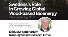 Press invitation: Sweden's Role in Growing Global Wood-based Bioenergy