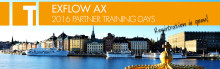 Registration is open - ExFlow AX 2016 Partner Training Days