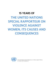 15 years of the Uninted Nations Special Rapporteur on Violence Against Women (1994-2009)—A Critical Review