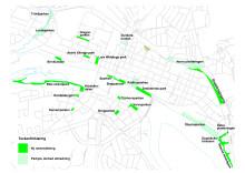 Namnsatta parker i centrala stan april 2013 -karta