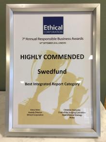 Swedfund prisas för hållbar redovisning