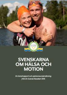 Ny opinionsundersökning visar att intresset för hälsa och motion är fortsatt stort i Sverige