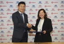 Hyundai och Vodafone inleder samarbete inom  uppkopplade bilar