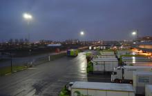 Logistikterminal i Malmö miljösatsar på LED mastbelysning
