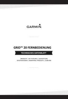Datenblatt Garmin Grid20 Fernbedienung