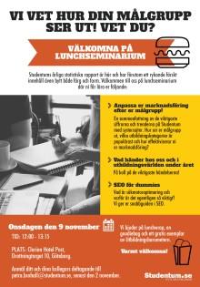 Välkomna på lunchseminarium med Studentum.se i Göteborg