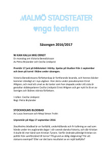 Malmö Stadsteaters repertoar 2016-2017