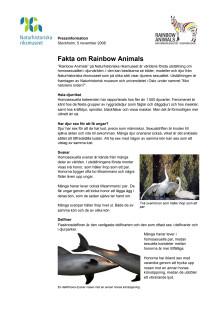 Fakta om Rainbow Animals
