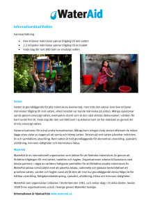 Informationsblad Vatten
