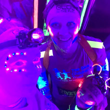 Mums complete neon Glow In The Park 5km run to say thank you to The Sick Children's Trust