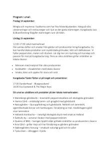Program och urval av utställare till Höstfesten i Kungsbacka