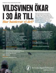 Vildsvinsseminarium 22 augusti på Öster Malma