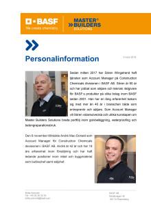 Snygga och säkra golv direkt från BASF i Sverige - Personalinformation
