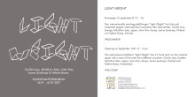 Vernissagekort inbjudan Light Weight