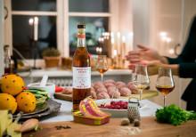 Grönstedts XO Noël 2017 passar både före och efter köttbullarna.