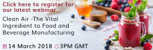 Camfil Announces March 14th Webinar: Clean Air - The Vital Ingredient to Food and Beverage Manufacturing
