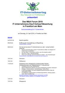 M&A Forum 2018 für IT-Unternehmer