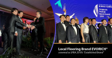 "Milestone Marked – Local Flooring Brand EVORICH® crowned as SPBA 2018's ""Established Brand"""