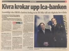 """Dagens Industri: """"Kivra krokar upp ICA Banken"""""""