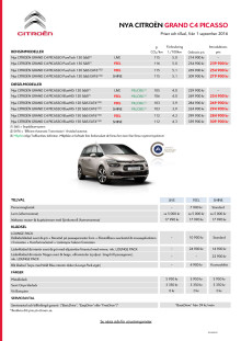 Prisblad Grand C4 Picasso