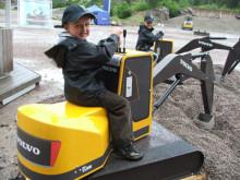 Volvo lanserade eldriven grävmaskin på Swecondagarna 2009 i Eskilstuna