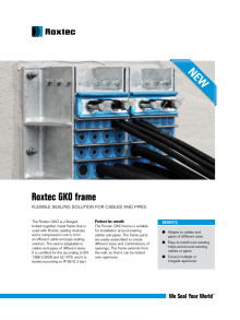 Roxtec GKO Frame Product