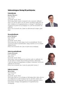 Valberedningens förslag till ny styrelse inför Landsdagarna 2011