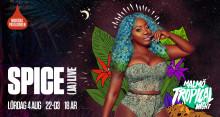 Dancehall-drottningen Spice från Jamaica live på lördag
