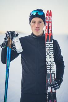 Längdstjärnan Calle Halfvarsson blir ny ambassadör för Vitamin Well