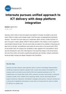Interoute pursues unified approach to ICT delivery with deep platform integration