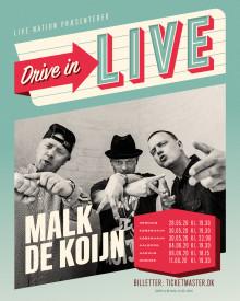 Malk de Koijn annonceres på 'Drive In - Live' touren!