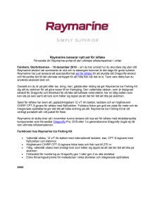 Raymarine lanserar nytt set för isfiske
