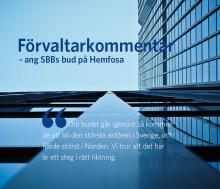 Förvaltarkommentar ang SBBs bud på Hemfosa