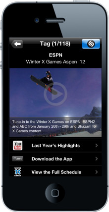 Shazam to Make ESPN's Winter X Games Aspen 2012 More Interactive