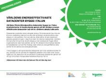 Pressinbjudan - Världens första klimatpositiva datacenter byggs i Falun